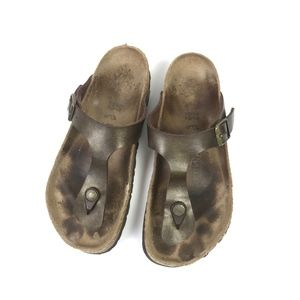 Birkenstock T Strap Leather Sandals 37 7 #1254